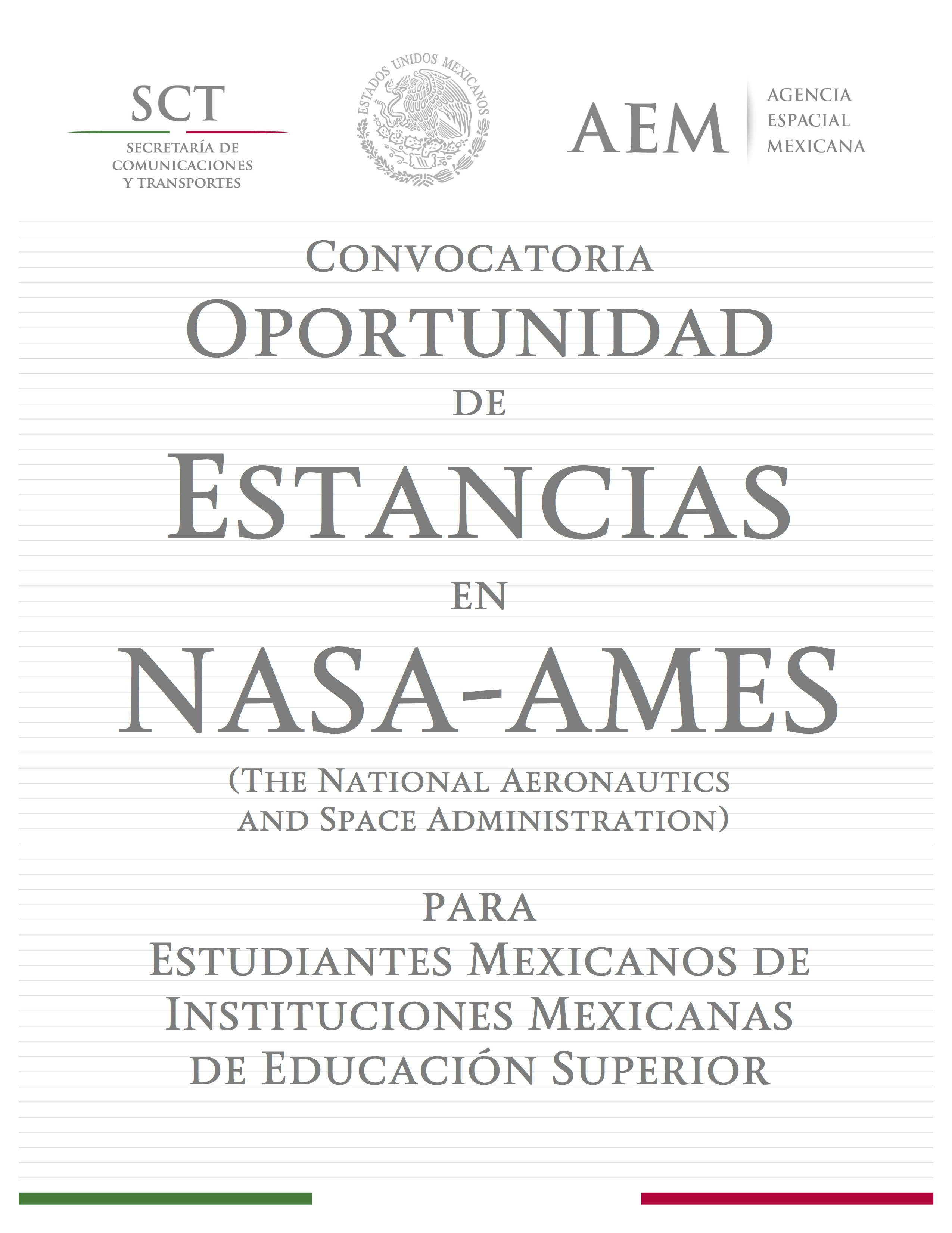 Convocatoria Estancias NASA Ames para dosmildiezyseis en PDF